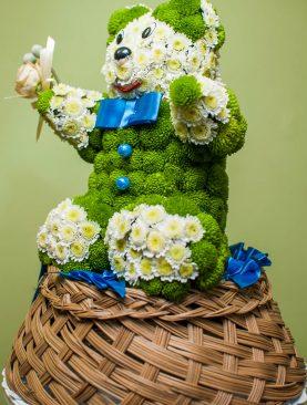 """Игрушка из цветов """"Мишутка"""""""