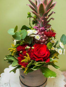 """Цветы в коробке """"Немного экзотики"""""""