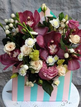 """Цветы в коробке """"Для тебя"""""""