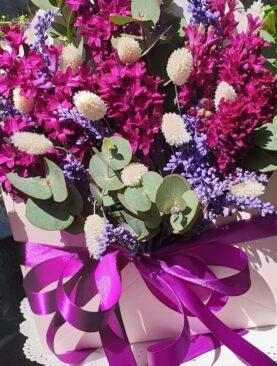 """Цветы в коробке """"Гиацинтовое настроение"""""""