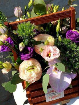 """Цветы в коробке """"Утренее солнце"""""""